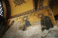 византийское sophia мозаики hagia Стоковое Изображение