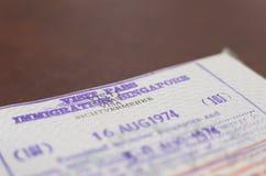 Виза пасспорта Таиланда авиапорта Сингапура Стоковые Фото
