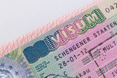 Виза schengen немца Стоковые Фото
