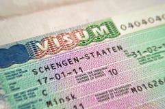 виза schengen Стоковая Фотография RF