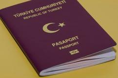 виза turkish пасспорта страниц меток Стоковые Изображения