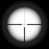 Визирование винтовки иллюстрация вектора