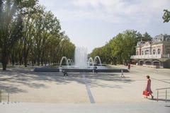 Визирование города fanfan фонтан тюльпана Стоковое Изображение