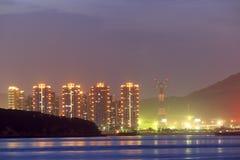 Визирование ночи пляжа Стоковое Изображение