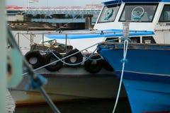 Визирование старого корабля на гавани Стоковые Изображения RF