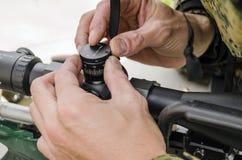 Визирование для охотника Стоковые Изображения RF