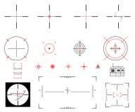 визирование иллюстрация вектора