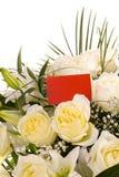 визитная карточка букета цветет белизна Стоковая Фотография RF