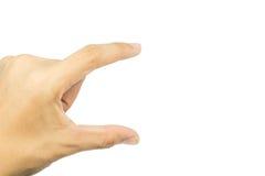 Визитная карточка владением руки людей виртуальная Стоковые Фото