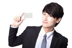 Визитная карточка в руке бизнесмена Стоковая Фотография RF
