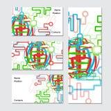 визитная карточка гловальная иллюстрация вектора