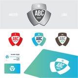 Визитная карточка дизайна логотипа установленная Стоковые Фотографии RF