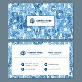Визитная карточка или шаблон карточки посещения с абстрактным lo элемента Стоковая Фотография