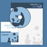 Визитная карточка и клеймя шаблон с логотипом панды Стоковое Фото