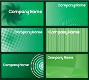 визитная карточка конструирует зеленый цвет Стоковое фото RF