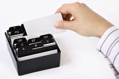 визитная карточка коробки Стоковые Изображения RF