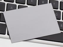 Визитная карточка на protrait клавиатуры Стоковые Изображения