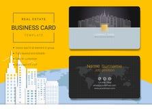 Визитная карточка недвижимости или шаблон карточки имени бесплатная иллюстрация