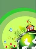 визитная карточка относящая к окружающей среде Стоковое Изображение