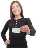 визитная карточка показывая женщину Стоковое Изображение