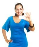 визитная карточка показывая нам женщину Стоковая Фотография RF