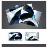 визитная карточка производит эффект градиенты никакие шаблоны Стоковое Изображение