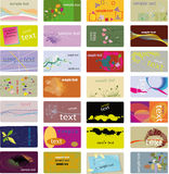 визитная карточка различная Стоковые Фото