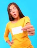 визитная карточка смешная стоковое изображение