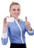 Визитная карточка удерживания коммерсантки Стоковое Изображение RF