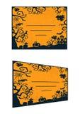 Визитная карточка хеллоуина Стоковые Фотографии RF
