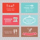 Визитная карточка хлебопекарни иллюстрация штока