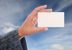 визитная карточка Стоковое фото RF
