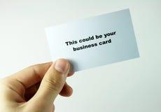визитная карточка стоковое изображение