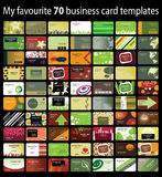 визитная карточка 70 предпосылок Стоковое фото RF