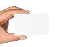 визитная карточка ii Стоковая Фотография