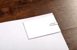 Визитная карточка & Letterhead Стоковые Фотографии RF