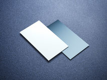 2 визитной карточки в стильной студии Стоковое фото RF