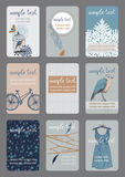 визитные карточки вертикальные Стоковое Изображение