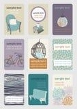 визитные карточки вертикальные Стоковое Изображение RF