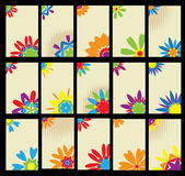 визитные карточки конструируют флористический комплект Стоковые Фотографии RF