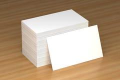 Визитные карточки прикрывают модель-макет - шаблон, иллюстрацию 3D Стоковое Фото