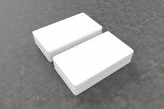Визитные карточки прикрывают модель-макет - шаблон, иллюстрацию 3D стоковые фото
