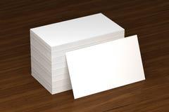 Визитные карточки прикрывают модель-макет - шаблон, иллюстрацию 3D стоковое изображение rf