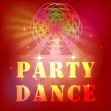 Визитные карточки, рогульки, брошюры Заготовка для дизайна Ночной клуб Lignts Tkhe диско vith Рогулька танцев ночи Стоковое Изображение