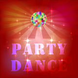 Визитные карточки, рогульки, брошюры Заготовка для дизайна Шаблон предпосылки плаката партии диско - иллюстрация вектора Стоковое Фото