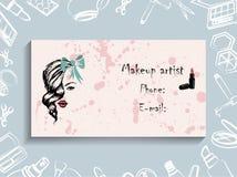 Визитные карточки, фирменный стиль, корпоративный стиль, визажист, visagiste Стоковые Изображения