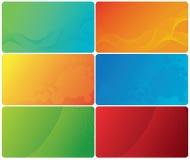 визитные карточки цветастые Стоковое Изображение RF