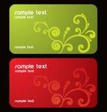 визитные карточки Стоковые Изображения