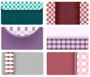 Визитные карточки checkered ткани Стоковое Изображение RF