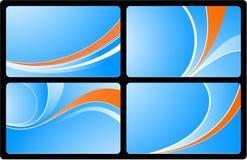 визитные карточки set3 Стоковые Изображения